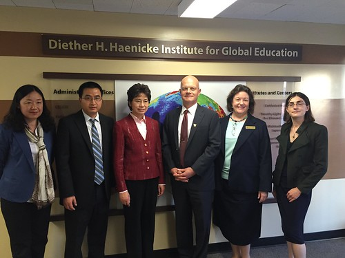 Counselor Juhua Qin visited CI at WMU