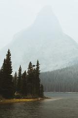 So Much Smoke (Brendan T Lynch) Tags: usa lake mountains nature landscape outdoors haze montana unitedstates smoke hike adventure glaciernationalpark pinetrees browning manyglacier