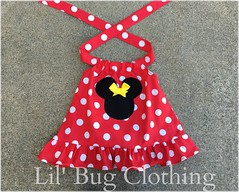 Red Minnie (Lil' Bug Clothing) Tags: red yellow top minnie halter