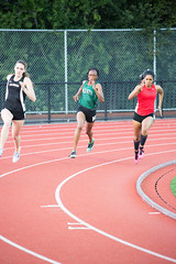 Titi and Jenae both qualified (Malcolm Slaney) Tags: track finals paloalto gunn 200m 2016 paly scval