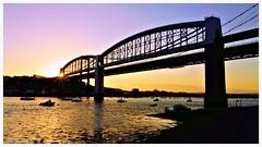 Sundown over the bridge! (Paul.Y-D) Tags: seafront saltash rtamar bridges sunset water tidal plymouth devon sony a7r2