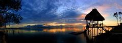 Itz Sunset / Atardecer Itz (drlopezfranco) Tags: sunset sky lake flores color lago atardecer shadows guatemala panoramic cielo panoramica sombras siluetas petenitza elremate petn silhoutes