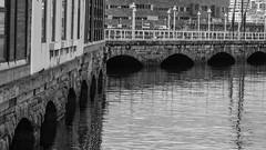 Drsena (Oscar F. Hevia) Tags: sea blackandwhite espaa blancoynegro water puerto harbor pier muelle mar dock spain agua gijn asturias basin quay wharf farolas lampposts asturies xixn fomento drsena shipside principadodeasturias
