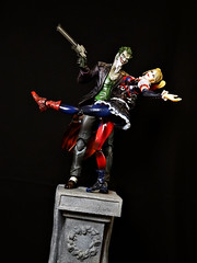 Joker and Harley (Patman1313) Tags: dc actionfigures batman joker gotham squareenix harleyquinn thejoker playarts playartskai arkhamorigins arkhamknight
