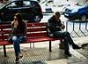 Waiting / Cekanje (mardukkk) Tags: street woman man bench greek nikon gimp greece together nikond3200 klupa grčka nikoneurope nikonsrbija streethard
