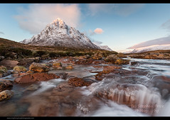 Buckled Again (Steve-P2010) Tags: morning mountain sunrise scotland waterfall snowcapped streams movingwater buachailleetivemor etivemor scottishlandscapes copyrightstephenprice