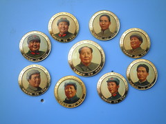 Portrait of Mao Zedong   (Spring Land ()) Tags: china asia badge mao   zedong