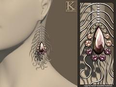 (Kunglers) Natalia earings quartz (AvaGardner Kungler) Tags: statement ethnic kunglers avagardnerkungler secondlifejewelry shinyshabby