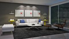 SALA ESTAR - NOITE (domcio ferreira) Tags: art arquitetura cores design 3d arte interiores decorao quadros projetos telas maquetes
