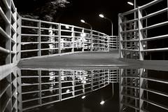 Night at Foot Bridge (windchangesme) Tags: bridge white black foot amazing nikon philippines great mirroring d3200