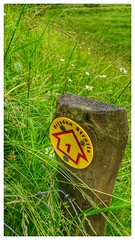Silsden Strolls No 1 (tubblesnap) Tags: cameraphone grass mobile way photography wooden post cellphone motorola marker third signpost generation 3rd strolls silsden motog