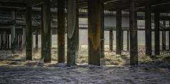 De Pier, Scheveningen (The Pier, Scheveningen, near The  Hague) (ParadoX_Design) Tags: sea sun sunlight seascape holland beach netherlands landscape pier surf waves scheveningen den north nederland zee hague haag pillars breaking zuid noord