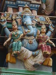Ganesha & his Wives, Sri Dandu Mariamman Temple, Bangalore (Aidan McRae Thomson) Tags: bangalore bengaluru karnataka india sculpture temple hindu