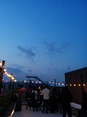 "Watching Duke Riley's ""Fly by Night"" at Rooftop Reds (iamos) Tags: brooklyn pigeons flybynight dukeriley rooftopreds"