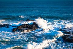 Clashing (daniellih) Tags: ocean beach water june landscape rocks waves tide shoreline wave australia melbourne victoria shore foam phillipisland thenobbies 2016 canonbody nikonlens freelens freelensing nobbiescenter daniellih
