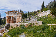 Temple of Apollo- Delphi. Greece (Flortography) Tags: travel mountain outdoors greek temple europe day foto country ruin delphi eu tourist structure unesco professional greece histoire destination fotografia hillside apollo mythology professionalphotography histor flickrestrellas thebestofday gnnenyisi