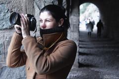 Catalina (Mar Cifuentes) Tags: chile portrait woman mujer retrato tunel cajondelmaipo tinoco