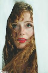 looking forward (Tidesimi) Tags: portrait woman selfportrait germany lace curls hannover curtains freckles selfie pixadora oixadorafotografie