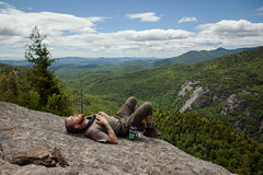Taking a nap on Giants Nubble. (gianteyephotography) Tags: camp mountains climb nap sleep lookout hike backpack vista adirondack
