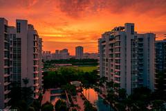 My favourite sunset view (Chye Guan, Tan) Tags: sunset landscape singapore dramatic orangesky fujifilm burningsky hdb epic urbanscape epicsunset hdbscape singaporescape