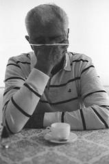 Grandpa (Rafael Padovani) Tags: old brazil portrait blackandwhite man film brasil analog canon vintage ae1 grandfather delta grandpa oldschool scan 1600 analogue grandad delta3200 ilford pretoebranco oldcamera