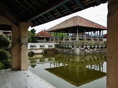 pavilion in a pond (SM Tham) Tags: bridge bali building water reflections indonesia island pond asia royal palace pavilion karangasem amlapura balekambang puriagungkarangasem