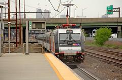 Pushing Toward New York (craigsanders429) Tags: catenary newjerseytransit northeastcorridor passengertrains passengercars commutertrains alp46 newarkairportstation alp46no4637 njtno4637