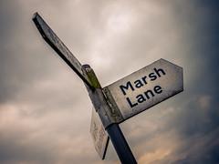 202/366 2016 -The way to Marsh Lane (fishyfish_arcade) Tags: 20mmf17 lumixgx7 panasonic panasonic20mmf17asphlumixg signpost roadsign marshlane 365 366