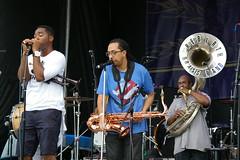 Rebirth Brass Band at French Quarter Fest 2015, Day 1, Thursday, April 9