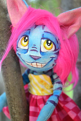 Custom Cheshire (Scribble Dolls) Tags: cute art animal cat toy happy miniature stuffed furry cheshire sweet handmade alice ooak critter small mini softie fabric tiny stuffedanimal handpainted handsewn artdoll cloth wonderland creature sewn anthropomorphic anthro scribbledolls