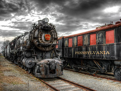 Ghost Train (Daveyal_photostream) Tags: hdr d600 track traintracks railroad nikon nikor clouds antique locamotive meandmygear mygearandme mycamerabag railroadties railway pennsylvania strasburgrailroad hdrphotography photoshop photomatix lightroom awesomeshots anawesomeshot artistic ghosttrain darksky americanclassic sliderssunday sharp clarity trained locomotive