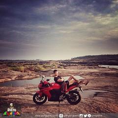 """"""" ตี 4 ครึ่ง ฟ้าเริ่มสว่างแล้ว คือ เช้าเร็วมากๆ ที่สามพันโบก อุบลราชธานี """"   #ทริปขับรถเครื่องไปอิสาน #ห่าวด๊งด๊ง 1-5 พ.ค. 2558 #CBR500R #MotorbikeTrip #PongtanitTrip"""