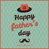 Retro Fathers Day Card Template Free Vector