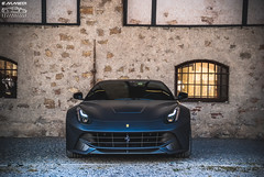Ferrari F12 Berlinetta (EmmeDiPhotography) Tags: italy black photography automotive ferrari brescia matte f12 berlinetta 2015 carsandcoffee emmedi