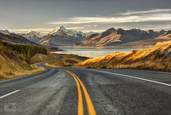 Road to paradise (bgspix) Tags: road newzealand mountain lake snow canon landscape nationalpark glacier trail valley lane summit mtcook tasman hooker lakepukaki mountcook aoraki pukaki canoneos5dmarkiii ef70200mmf28lisiiusm bgsphotography bgspix