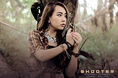Sexy Shooter (marcomail09) Tags: ladies woman sexy art girl face canon indonesia photography photo gangster model gun shoot image bokeh top models talent pistol indie shooter potrait modelling gangsta photoworks imanado
