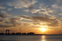 sunset (ntulin4) Tags: sunset sea clouds port gold golden evening pier ships blacksea vessels anapa sonya6000