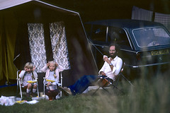 Supper at the campsite, Studland '81 (jonathan charles photo) Tags: holiday camping tent studland burnbake twins triumph 2500pi marieantoinettemarchant photo topf25
