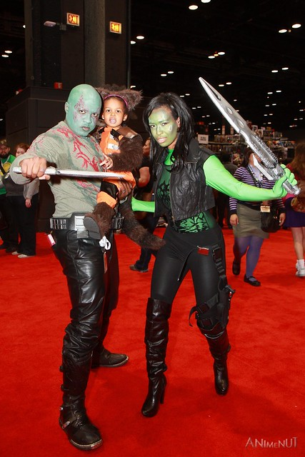 IMG_4402 - Drax the Destroyer, Rocket Raccoon, & Gamora