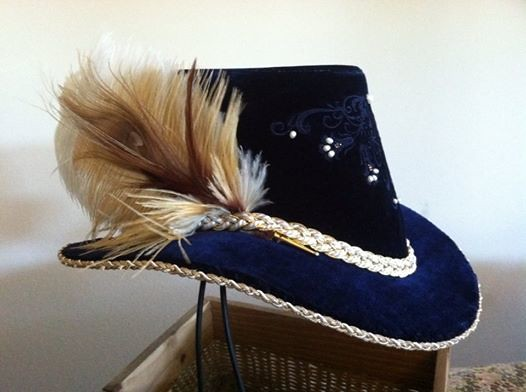 28ae44f8a671a Women s Elizabethan Riding Hat (Designs From Time) Tags  hat festival  costume fair tudor faire elizabethan