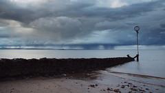 Raining much? (Lee Kindness) Tags: blue sea clouds scotland sand edinburgh overcast portobello groyne