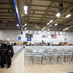 "<b>Commecement 2015</b><br/> President Farwell patiently waits in for the ceremonies to begin. Commencement 2015, Photo by Aaron Lurth<a href=""http://farm8.static.flickr.com/7662/17427461803_726019d4e1_o.jpg"" title=""High res"">∝</a>"