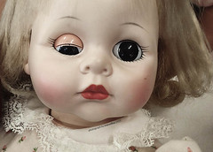 The Doll (Marcellina.) Tags: baby toy md eyes doll phone antique cellphone cell maryland blonde iphone lazyeye marcellina iphone5 iphoneagraphy