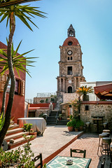 The Medieval Clock Tower (Askjell's Photo) Tags: tower medieval greece oldtown rodos rhodes rhodos middleage knightsofstjohn aegeansea knightshospitaller