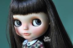Valen #247 (Julia Cabral Dolls) Tags: black mouth hair carved dolls factory makeup lips blythe brunette custom sbl brunet faceup custombyme milkywaysugar juliacabral juliacabraldolls