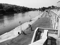 Torino - Lungo Po (Brunella Pastore) Tags: torino ponte scala turin luce biancoenero prospettiva contrasti fiumepo lungopo