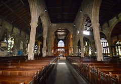 The Nave (rustyruth1959) Tags: windows church nikon arch yorkshire columns indoor stainedglass nave halifax minster pews chancel sigma1020mm nikond3200 jacobean boxpews misericords halifaxparishchurch halifaxminster