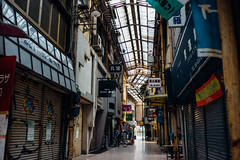 Senigai_07 (Sakak_Flickr) Tags: graffiti gifu nokton shoppingarcade shotengai tonyagai nokton35f14 senitonyagai