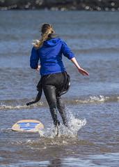 Skim Boarder 011 (KeithProvenArtist) Tags: sea beach sport scotland surf waves play fife standrews westsands skimboarder