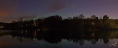 Norrsken #4-3+4 (George The Photographer) Tags: se sweden natur himmel vr sj moln norrsken nykvarn sdermanland spegling nattbild vackert auroraborelis yngern idylliskt hkmossebadet lgbostad blnattljuset